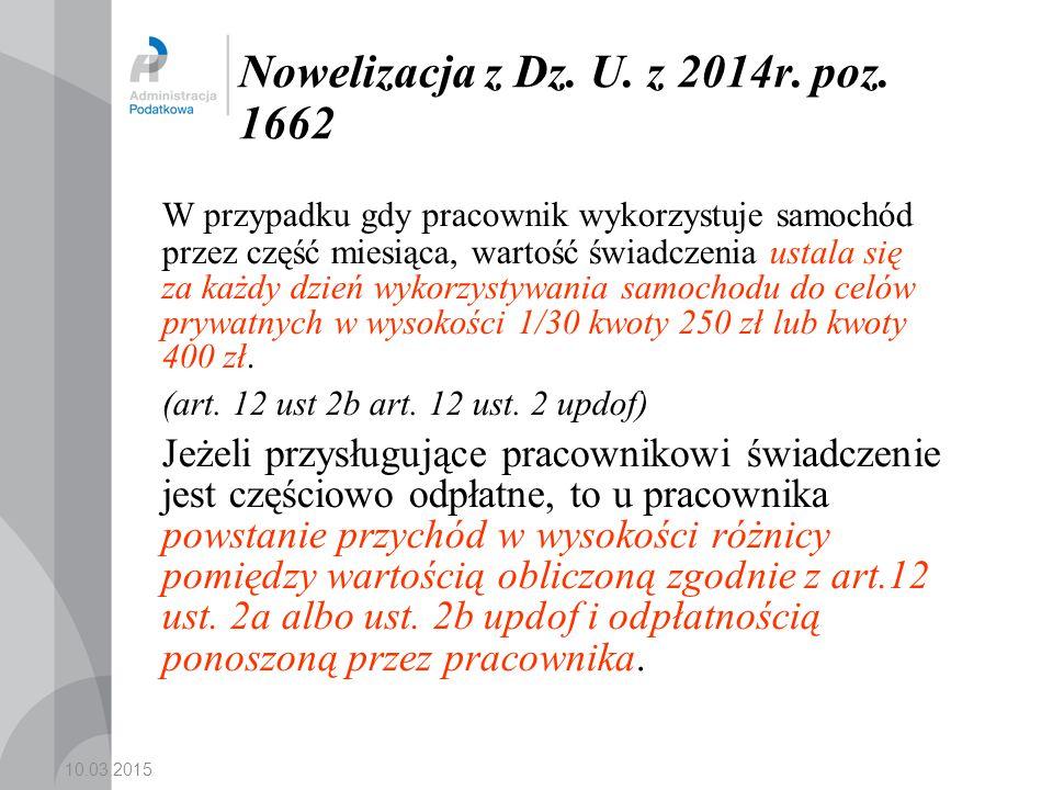 Nowelizacja z Dz. U. z 2014r. poz. 1662