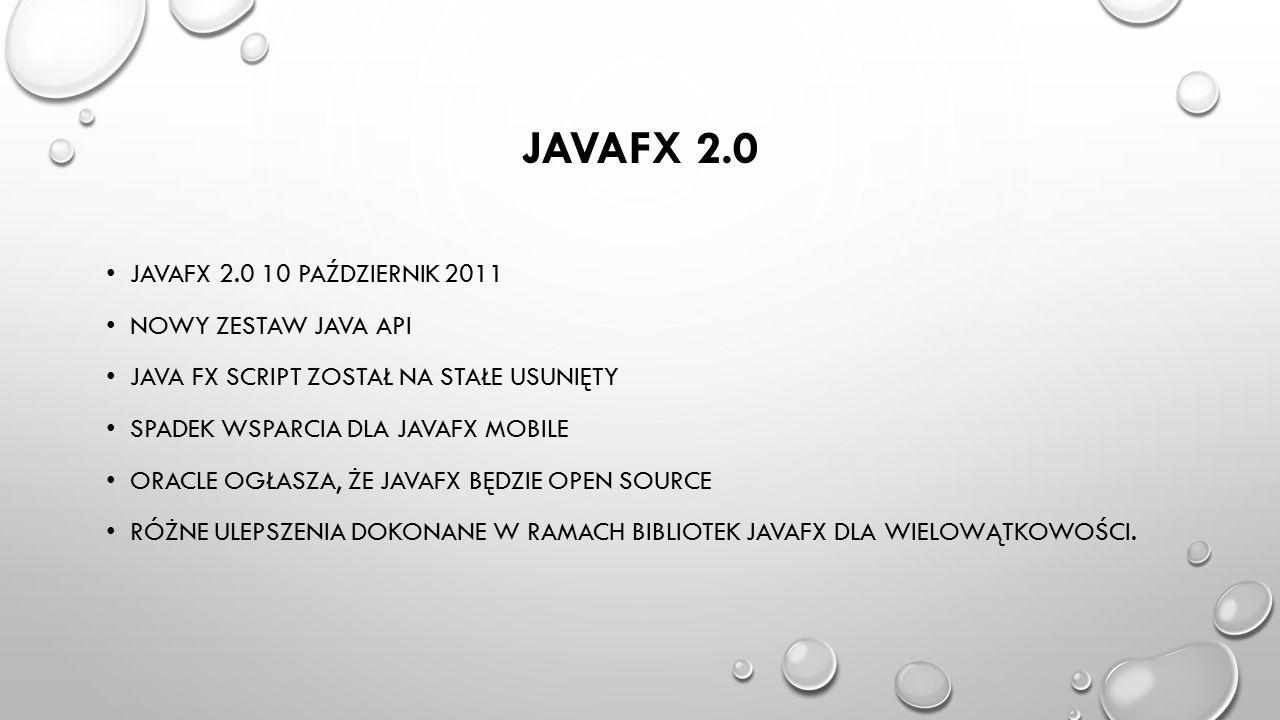 JavaFX 2.0 Javafx 2.0 10 październik 2011 Nowy zestaw Java API