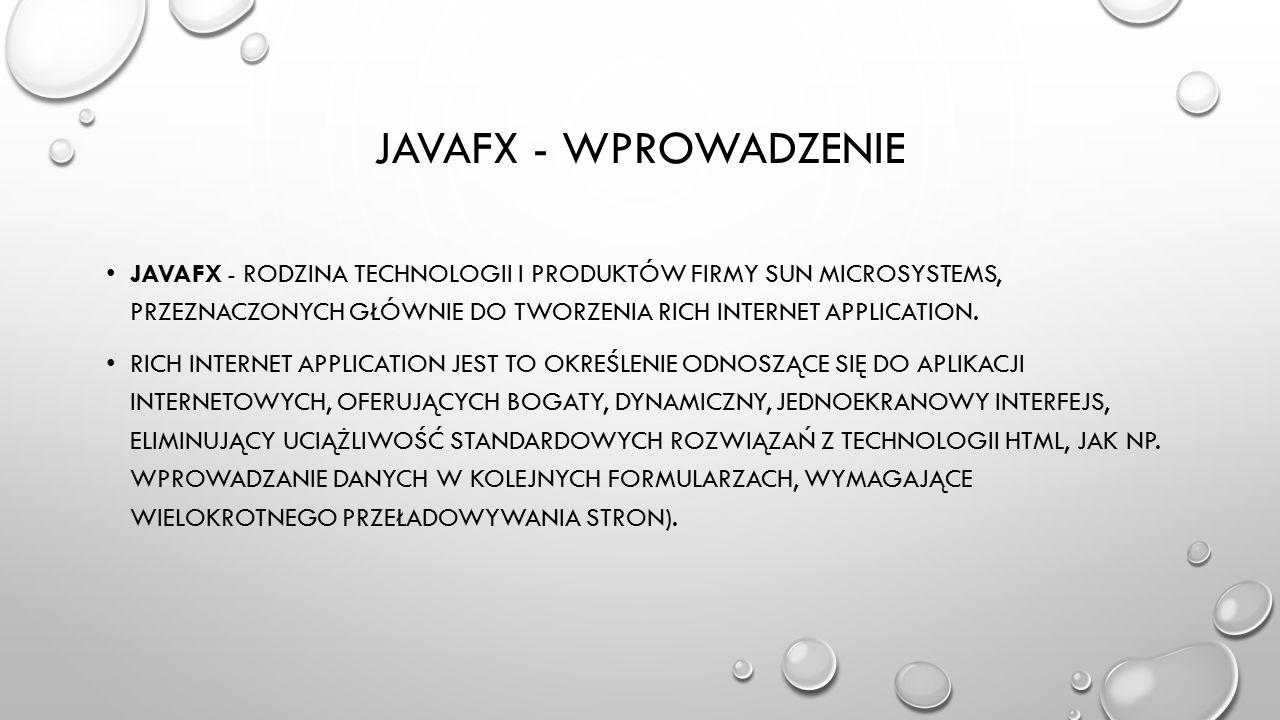 Javafx - wprowadzenie