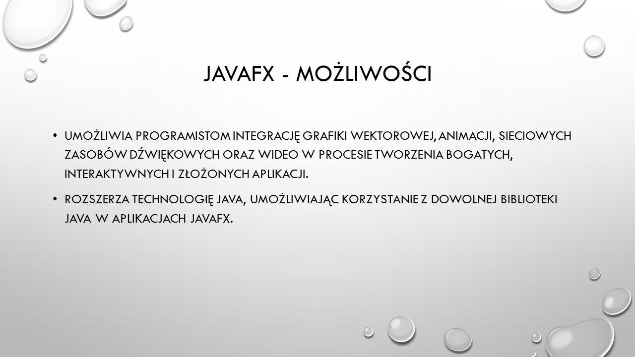 JavaFX - możliwości