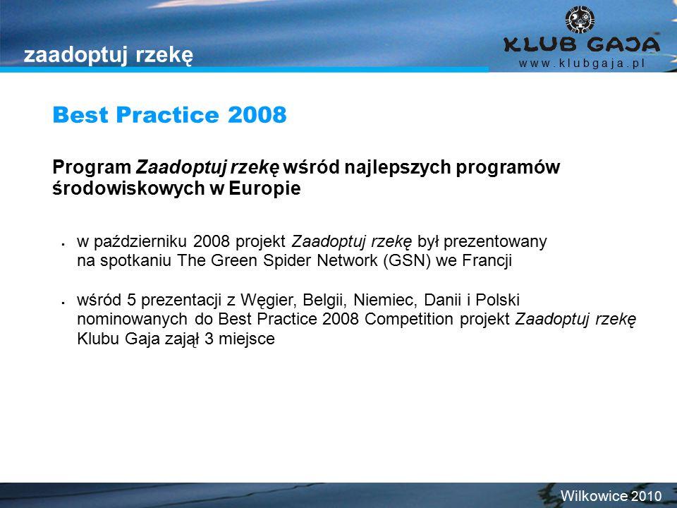 zaadoptuj rzekę Best Practice 2008