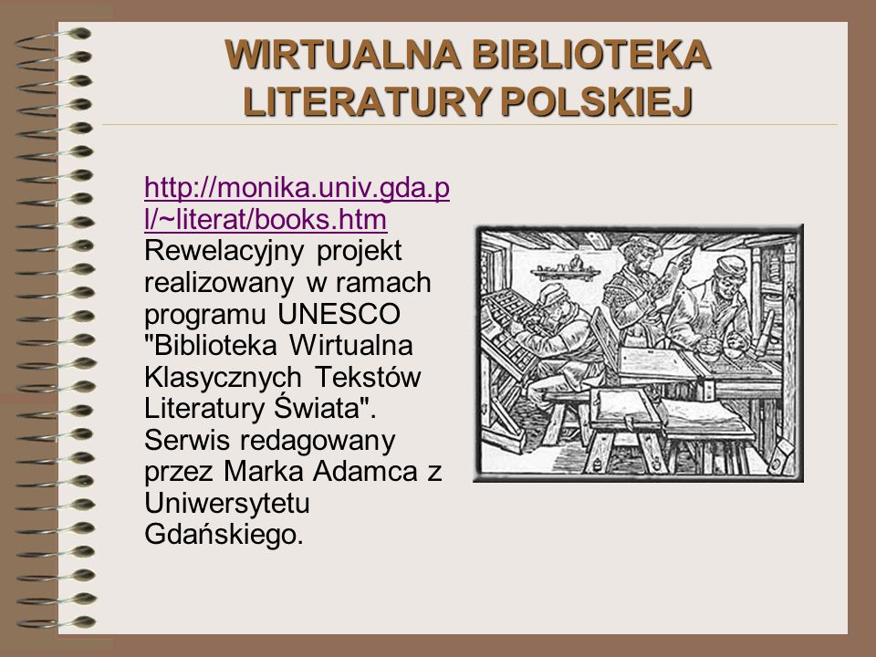 WIRTUALNA BIBLIOTEKA LITERATURY POLSKIEJ