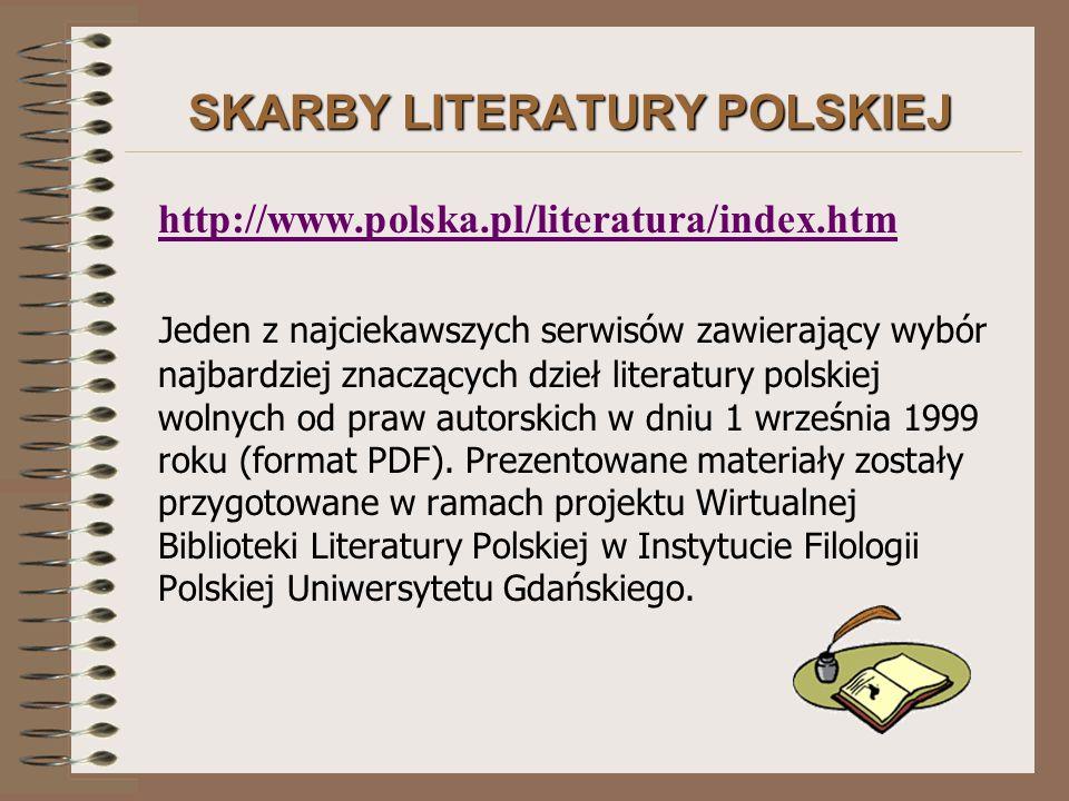 SKARBY LITERATURY POLSKIEJ