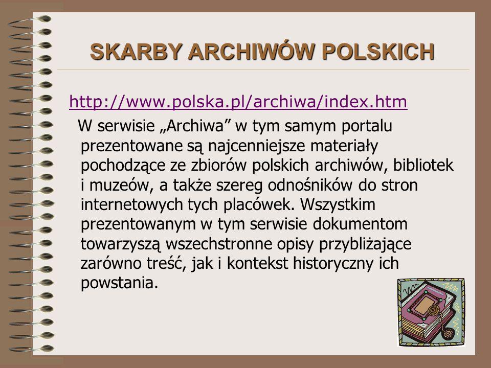 SKARBY ARCHIWÓW POLSKICH