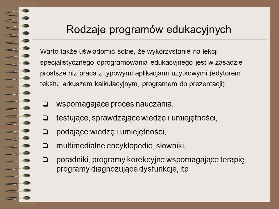Rodzaje programów edukacyjnych