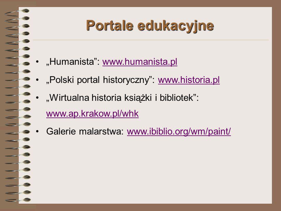 """Portale edukacyjne """"Humanista : www.humanista.pl"""