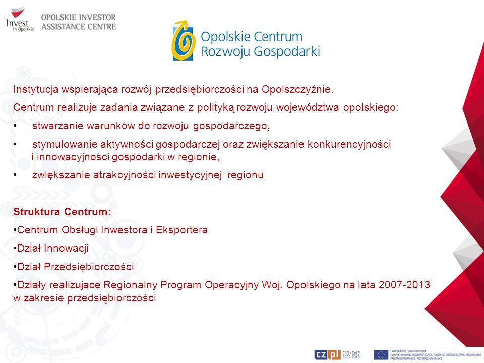 Instytucja wspierająca rozwój przedsiębiorczości na Opolszczyźnie.
