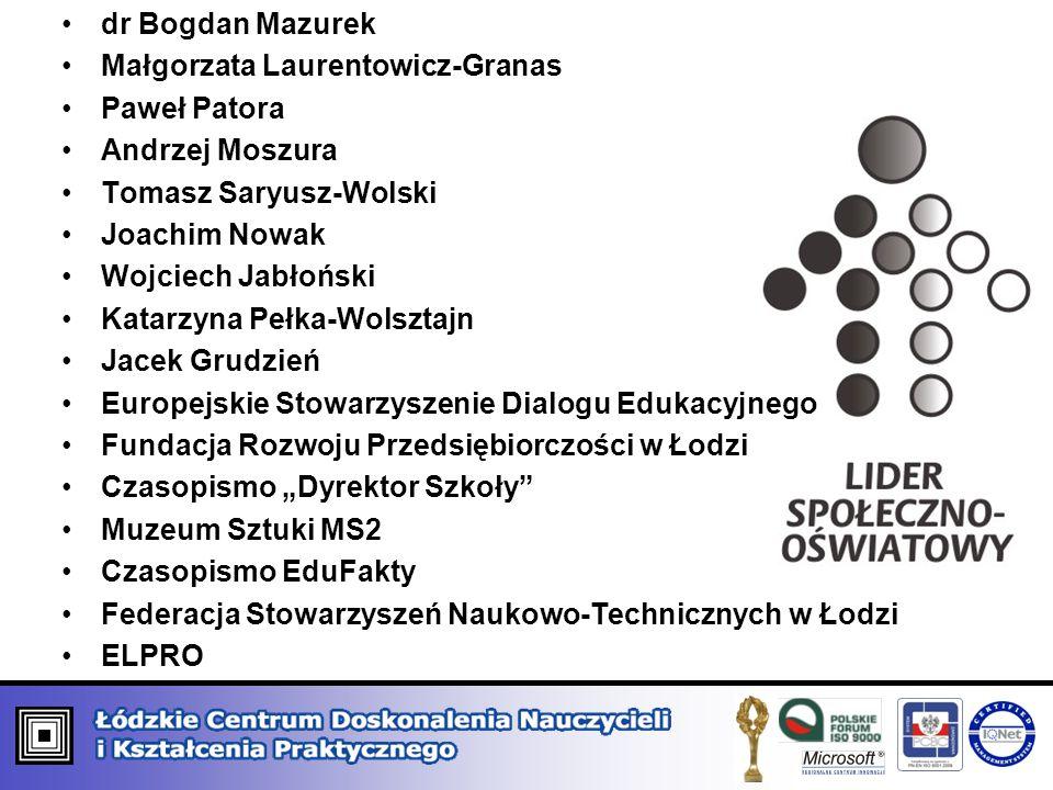 dr Bogdan Mazurek Małgorzata Laurentowicz-Granas. Paweł Patora. Andrzej Moszura. Tomasz Saryusz-Wolski.