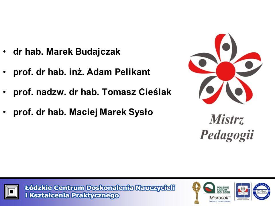 dr hab. Marek Budajczak prof. dr hab. inż. Adam Pelikant.