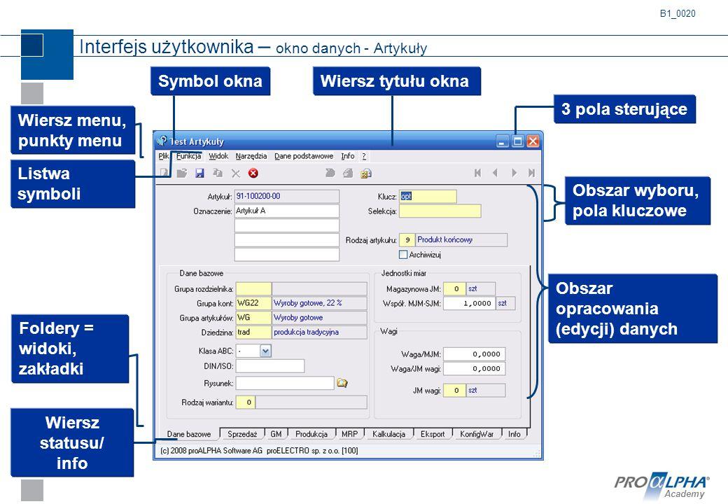 Interfejs użytkownika – okno danych - Artykuły