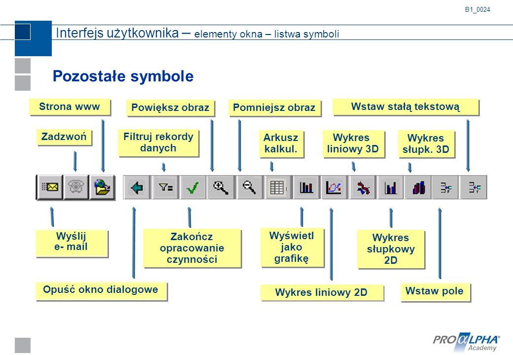 Interfejs użytkownika – elementy okna – listwa symboli