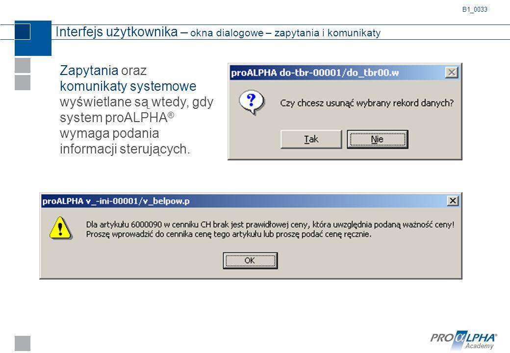 Interfejs użytkownika – okna dialogowe – zapytania i komunikaty