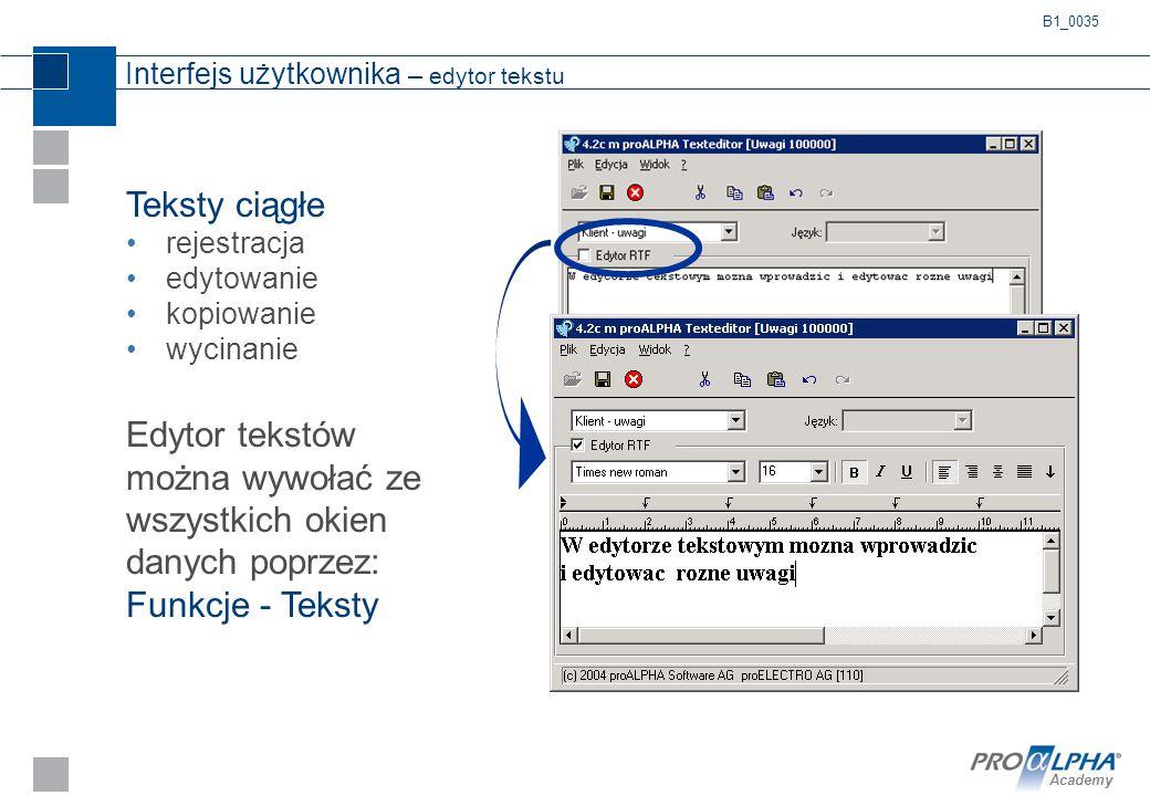 Interfejs użytkownika – edytor tekstu