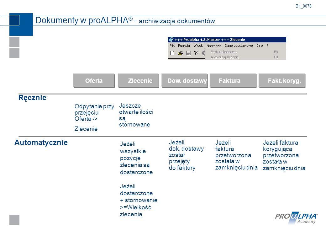 Dokumenty w proALPHA® - archiwizacja dokumentów