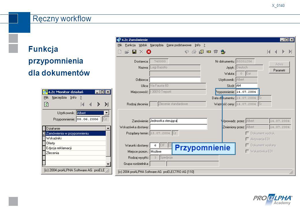 Funkcja przypomnienia dla dokumentów