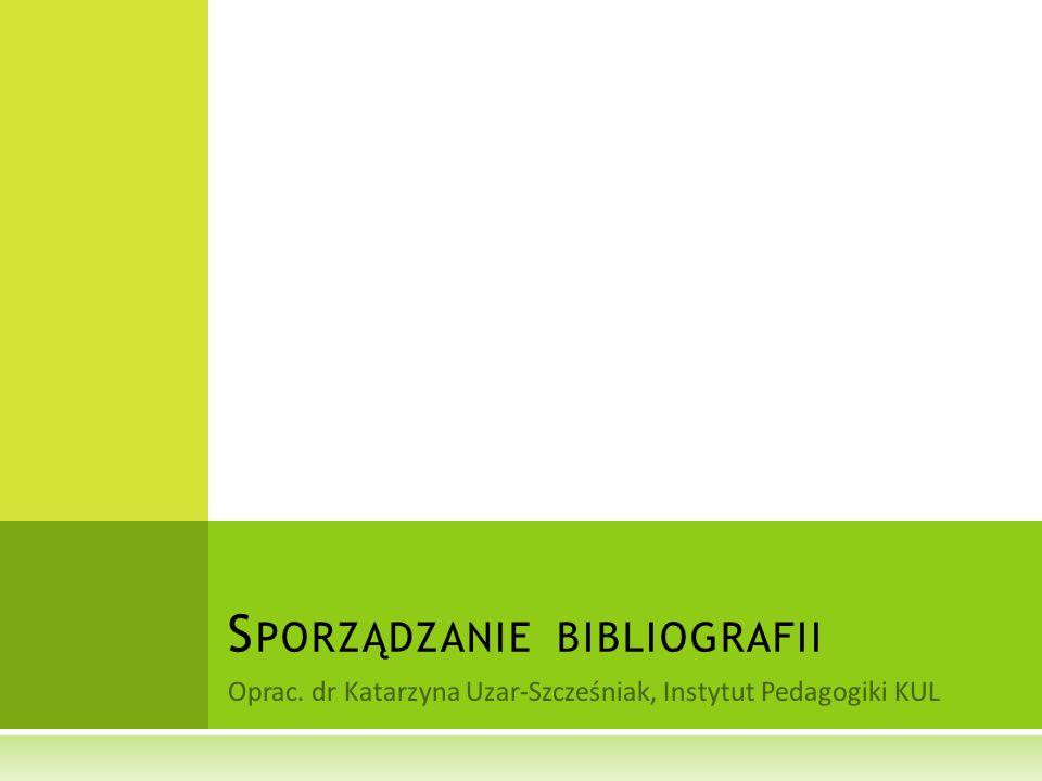 Sporządzanie bibliografii