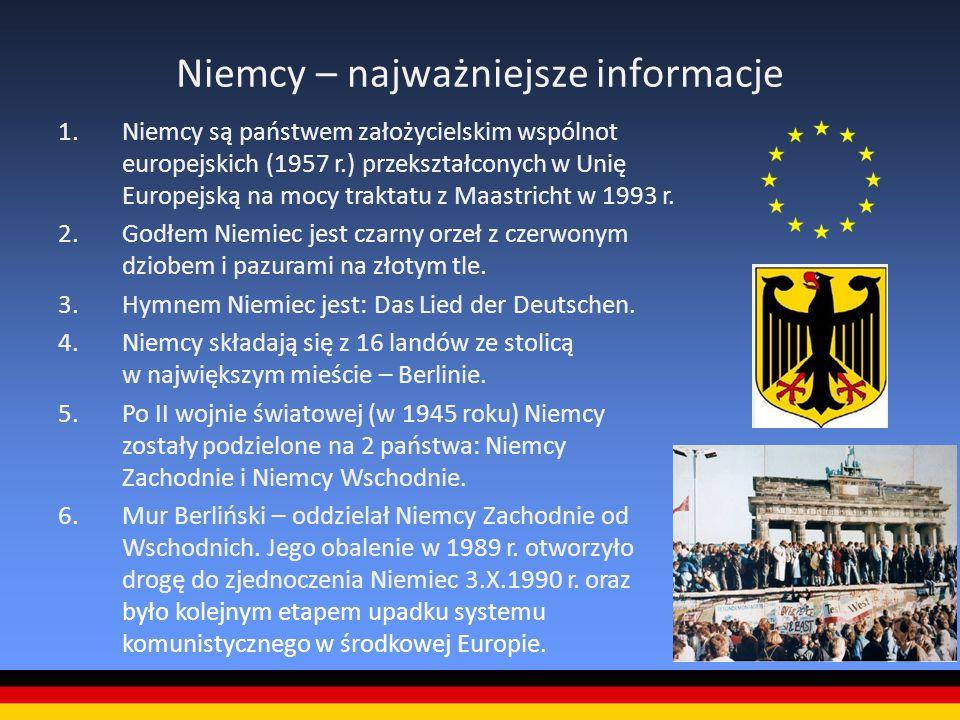 Niemcy – najważniejsze informacje