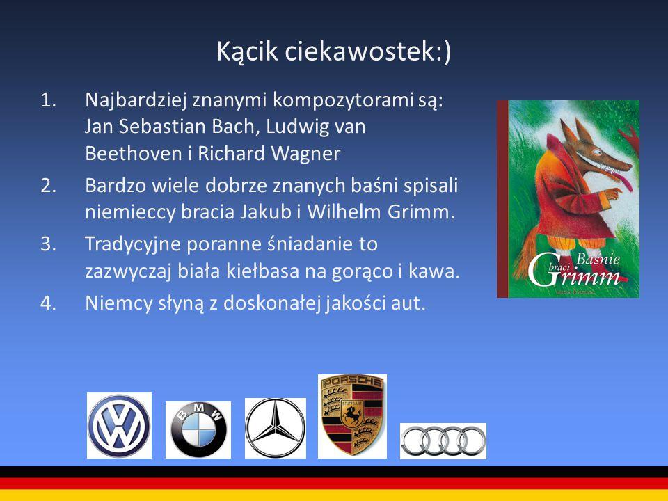 Kącik ciekawostek:) Najbardziej znanymi kompozytorami są: Jan Sebastian Bach, Ludwig van Beethoven i Richard Wagner.