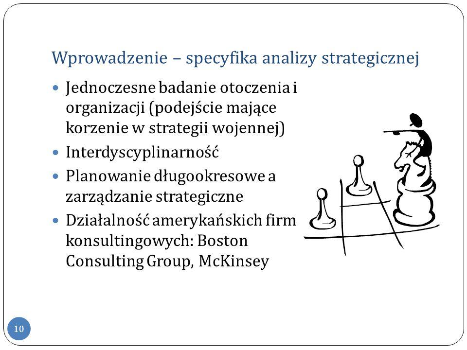 Wprowadzenie – specyfika analizy strategicznej