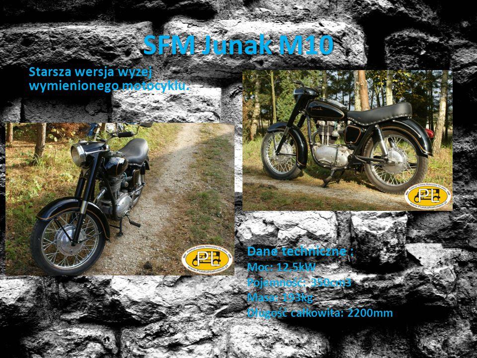 SFM Junak M10 Starsza wersja wyzej wymienionego motocyklu.