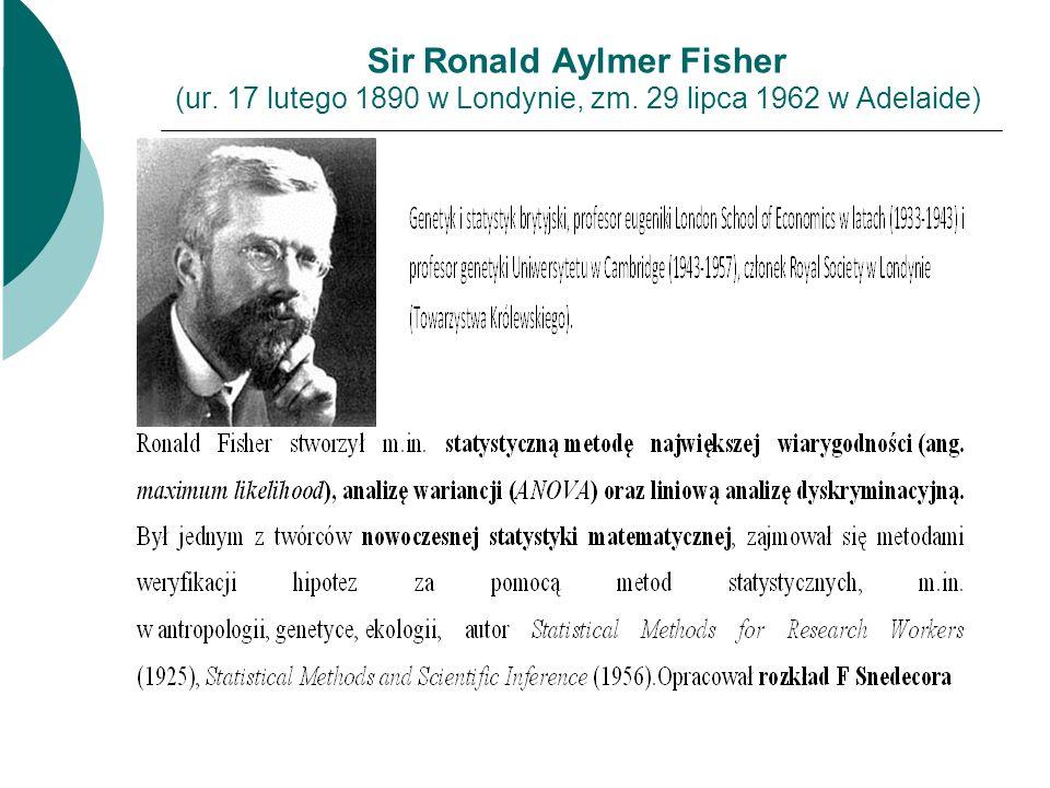 Sir Ronald Aylmer Fisher (ur. 17 lutego 1890 w Londynie, zm