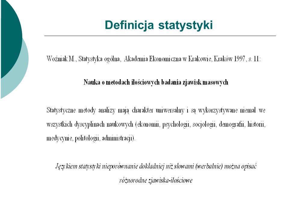 Definicja statystyki