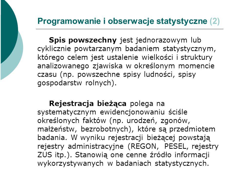 Programowanie i obserwacje statystyczne (2)