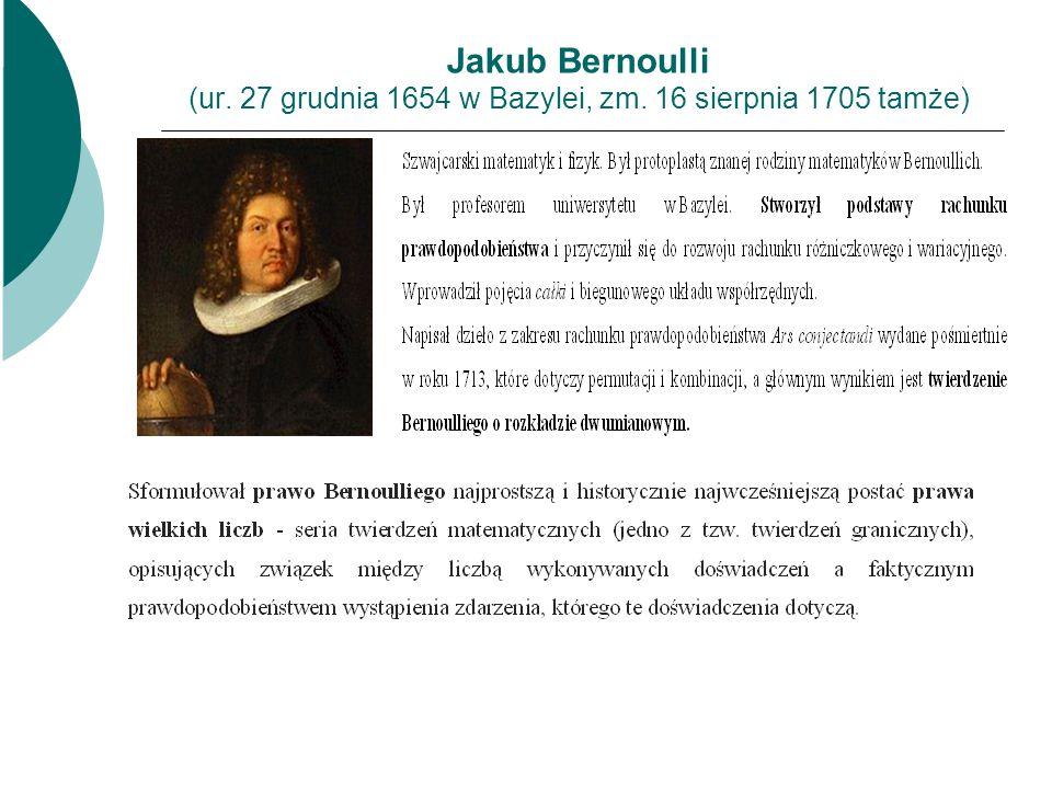 Jakub Bernoulli (ur. 27 grudnia 1654 w Bazylei, zm