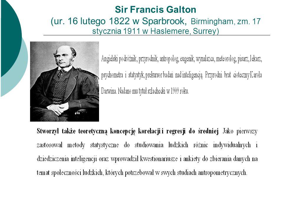 Sir Francis Galton (ur. 16 lutego 1822 w Sparbrook, Birmingham, zm