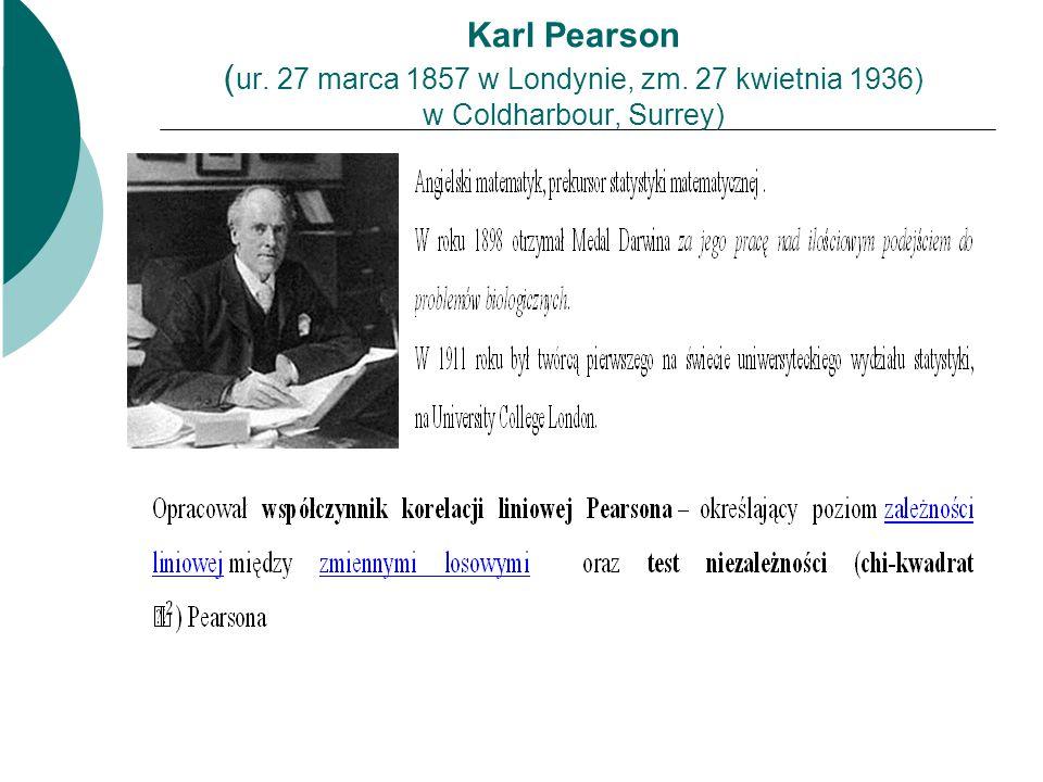 Karl Pearson (ur. 27 marca 1857 w Londynie, zm