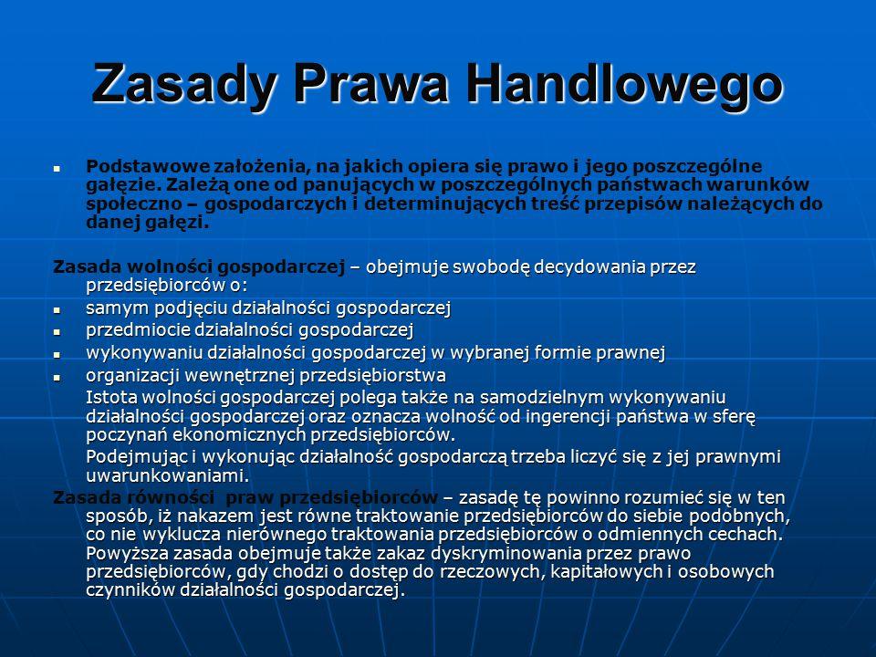 Zasady Prawa Handlowego