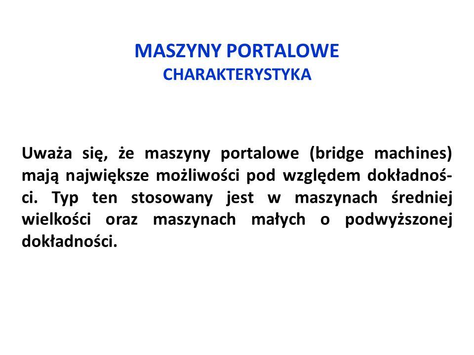 MASZYNY PORTALOWE CHARAKTERYSTYKA