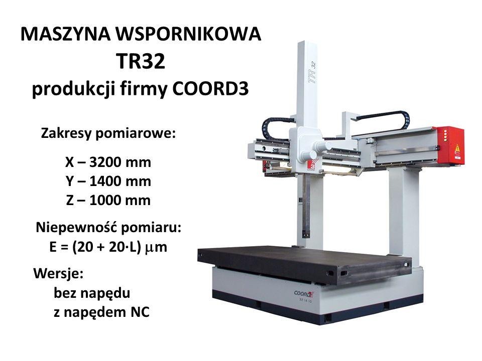 MASZYNA WSPORNIKOWA TR32 produkcji firmy COORD3