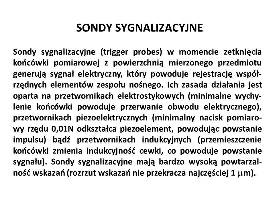 SONDY SYGNALIZACYJNE