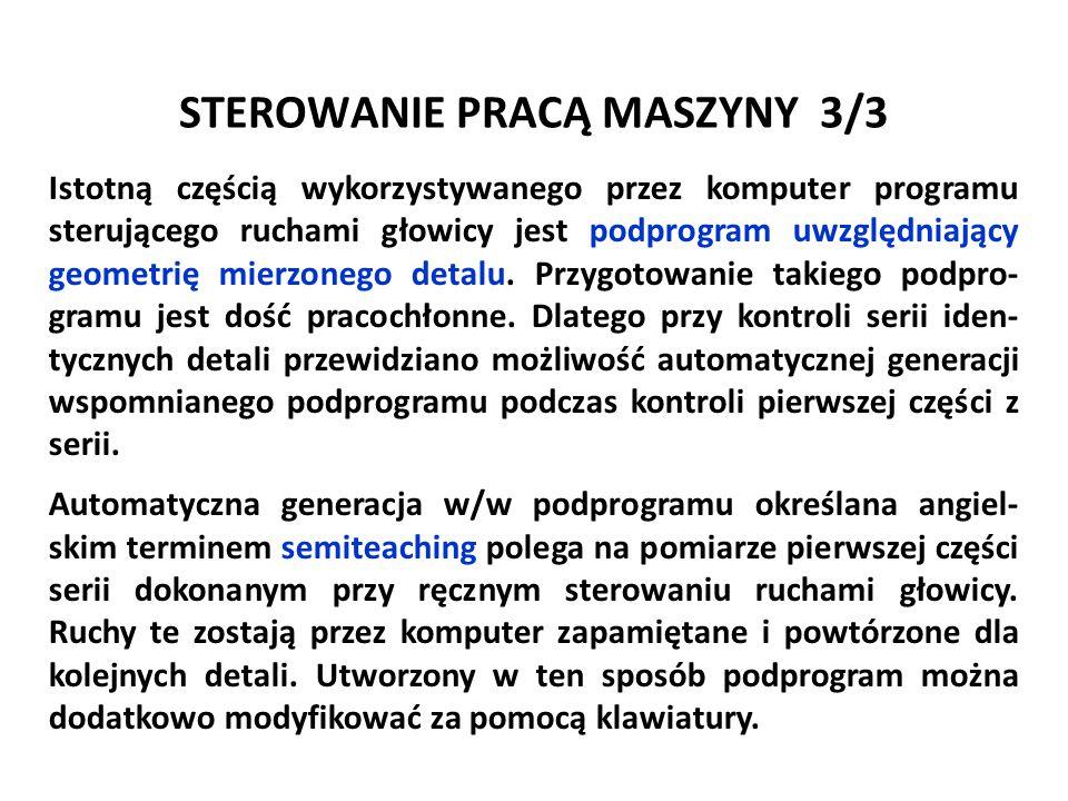 STEROWANIE PRACĄ MASZYNY 3/3