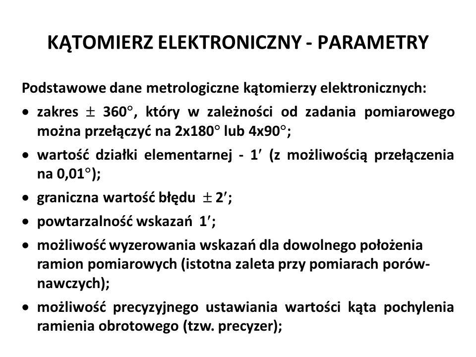 KĄTOMIERZ ELEKTRONICZNY - PARAMETRY