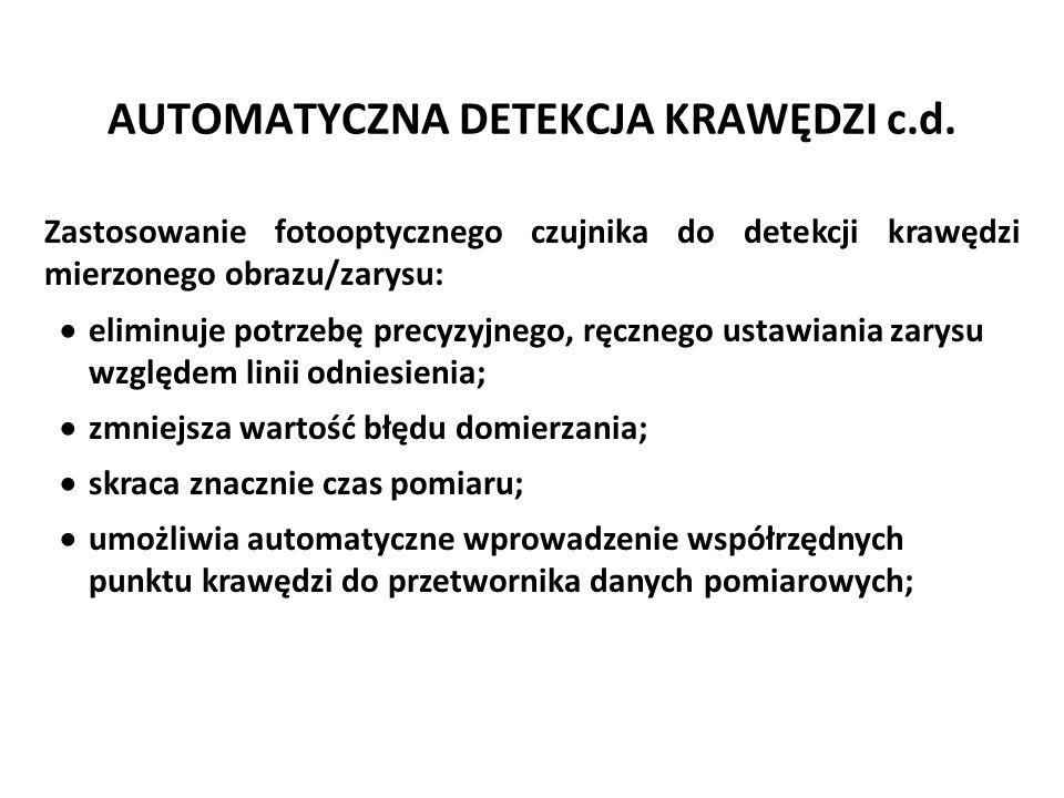 AUTOMATYCZNA DETEKCJA KRAWĘDZI c.d.