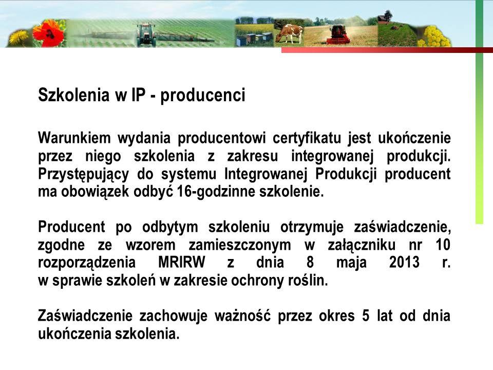 Szkolenia w IP - producenci