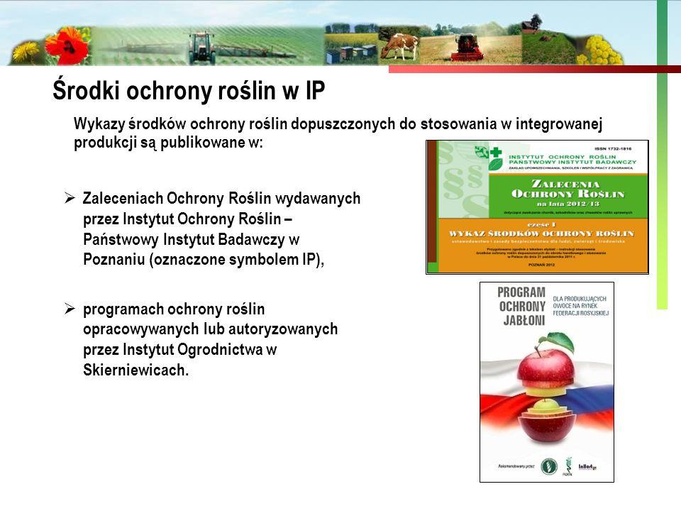 Środki ochrony roślin w IP
