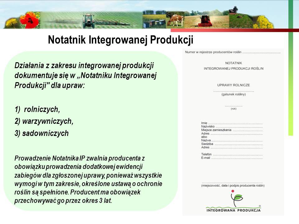 Notatnik Integrowanej Produkcji