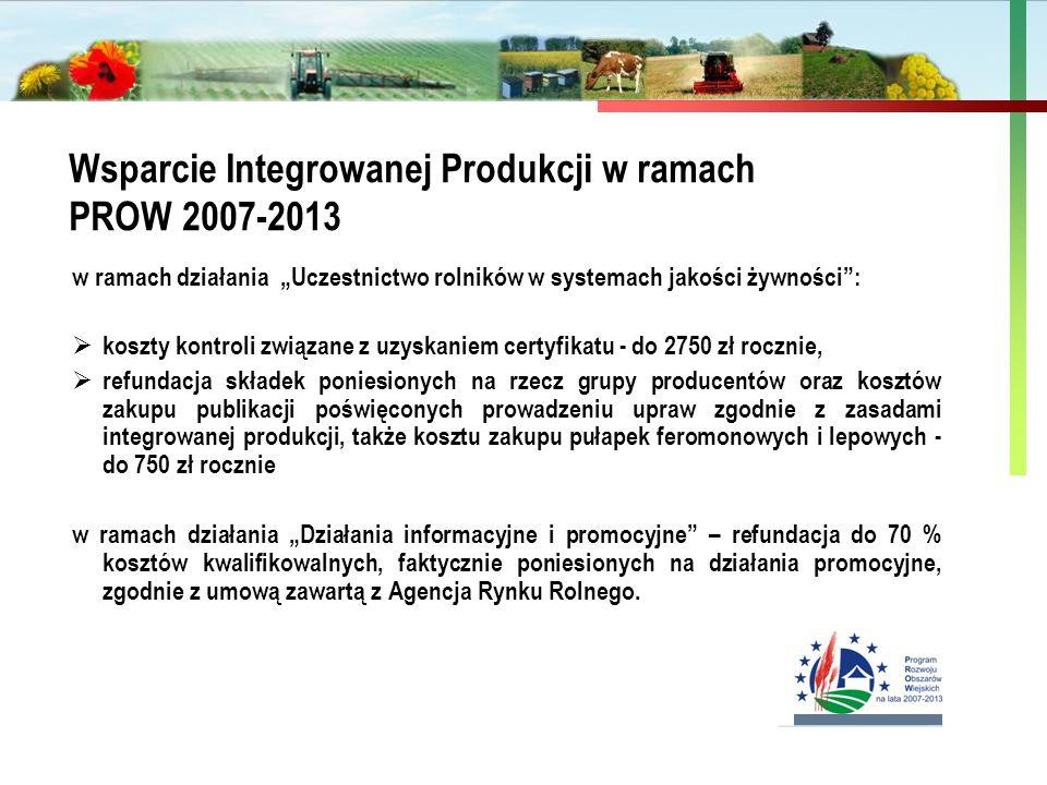 Wsparcie Integrowanej Produkcji w ramach PROW 2007-2013