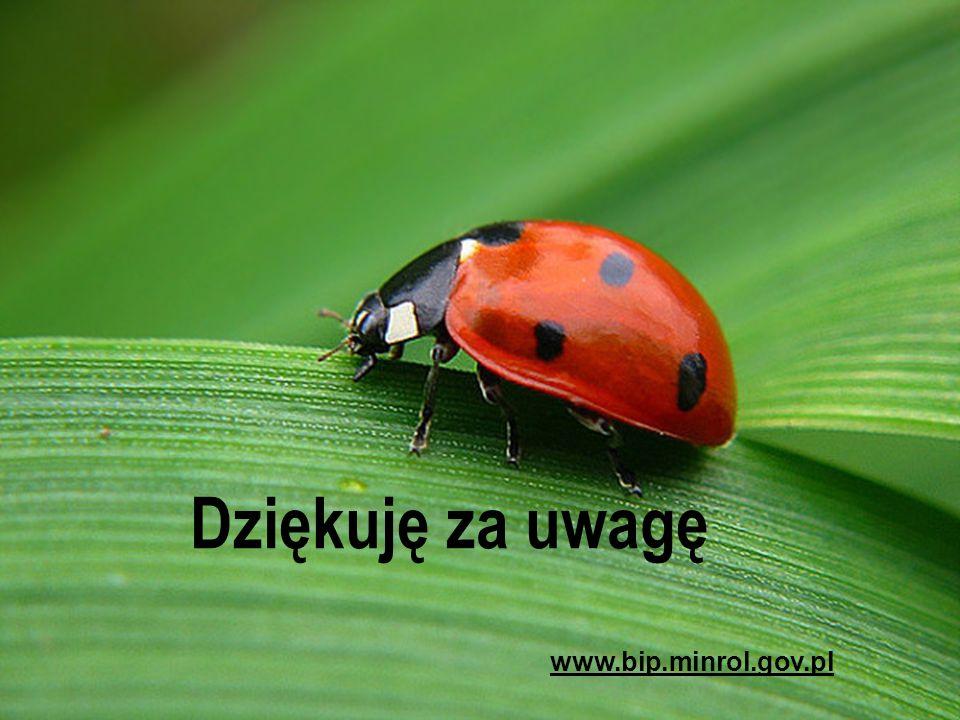 Dziękuję za uwagę www.bip.minrol.gov.pl
