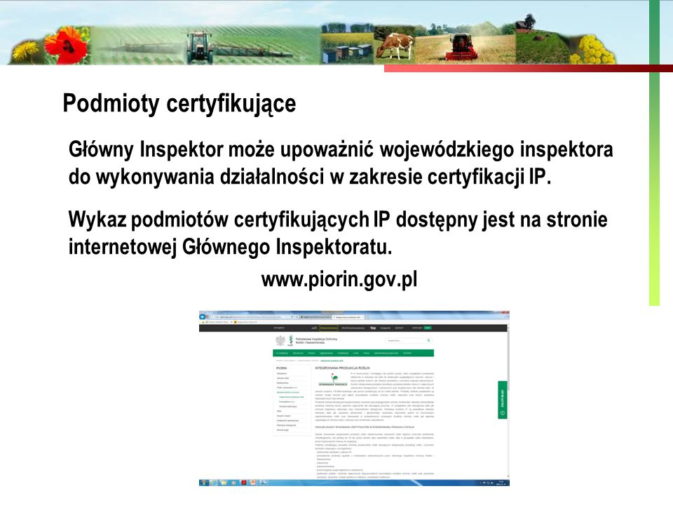 Podmioty certyfikujące