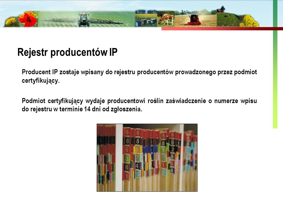 Rejestr producentów IP