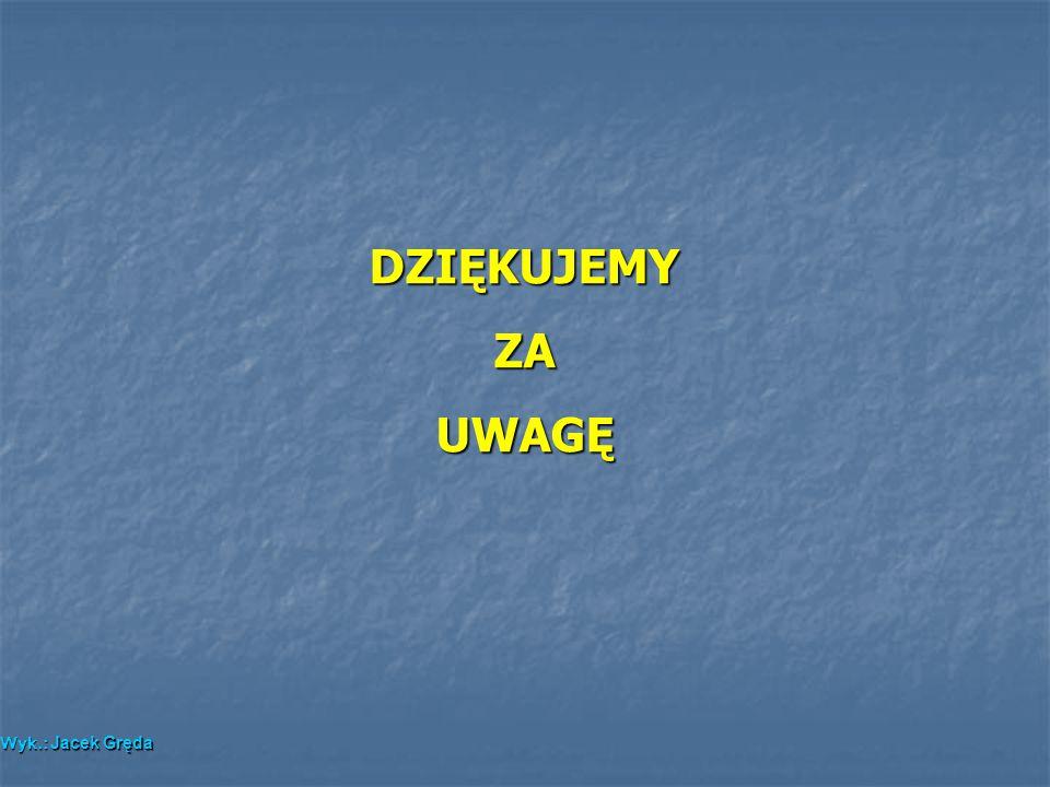 DZIĘKUJEMY ZA UWAGĘ Wyk.: Jacek Gręda