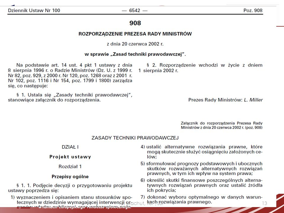 M. Błachut, TiSP, SSP