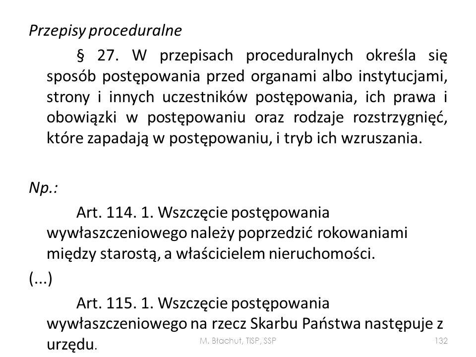 Przepisy proceduralne § 27