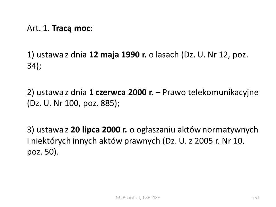 1) ustawa z dnia 12 maja 1990 r. o lasach (Dz. U. Nr 12, poz. 34);