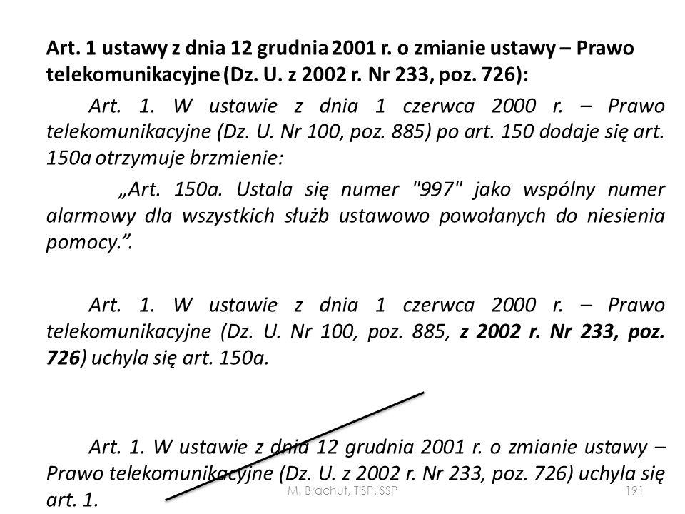Art. 1 ustawy z dnia 12 grudnia 2001 r