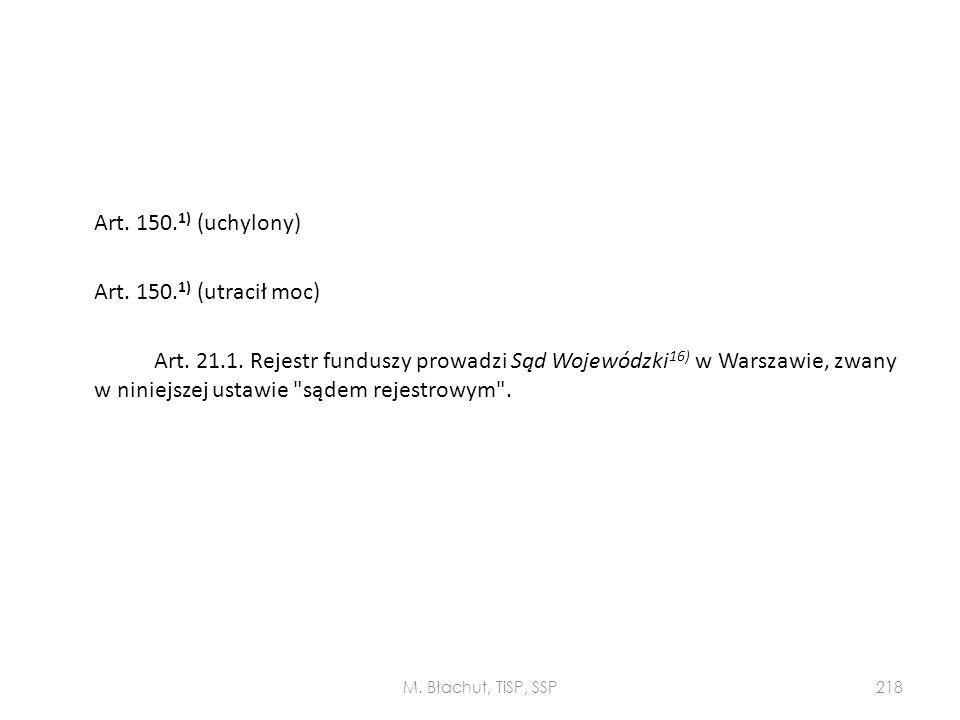 Art. 150. 1) (uchylony) Art. 150. 1) (utracił moc) Art. 21. 1
